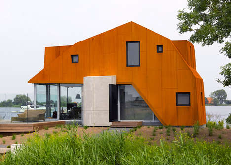 Shelled Watershed Residence - This Holiday Home Was Built Away From Its Site