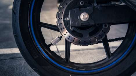 Bluetooth-Connected Tire Monitors - The Cycle AT Tire Pressure Monitoring System is Phone-Connected