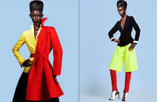 Androgynous Sophistication Editorials - Glassbook Magazine's Mix It Up Story is a Fresh 80s Revival