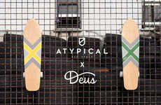 Modern Geometric Skateboards - The Atypical x Deus Ex Machina Collab Debuts Two Decks