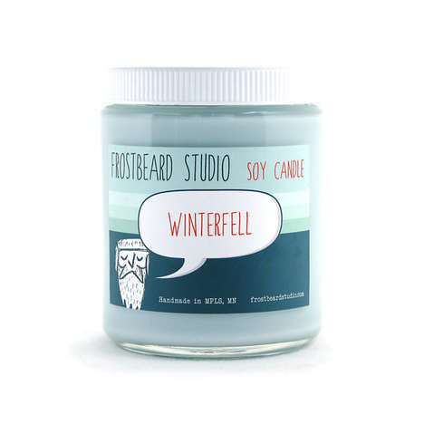 Novel Scented Candles - These Frostbeard Fragrances are Inspired by Popular Fantasy Series