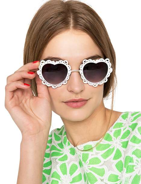 Romantic Laser-Cut Eyewear - Pixie Market