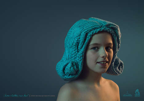 Sweater Wig Ads - The El Ropero Campaign Urges Donations for Kids with Cancer