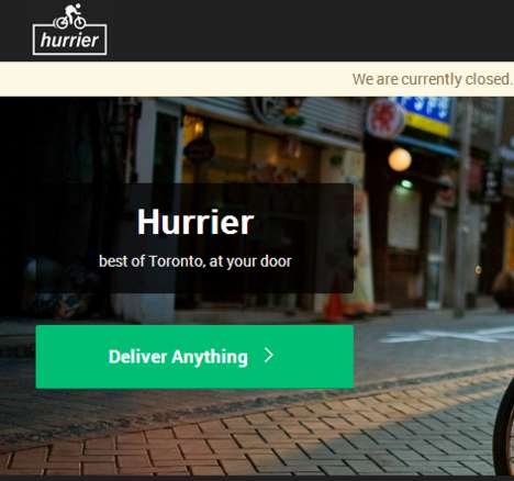 Speedy Bike Delivery Services - Hurrier Picks Up Food, Packages and More for Busy Torontonians
