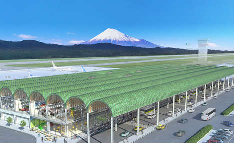 Tea-Referencing Airports - Shigeru Ban is Set to Build Mount Fuji Airport Based on Tea Plantations