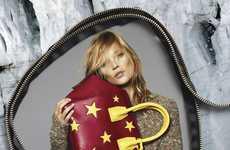 Zippered Fashion Ads - The Latest Stella McCartney Fall Campaign Stars Kate Moss