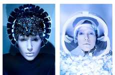 Space-Age Beauty Portraits - Glassbook Magazine's Other Worlds Image Series is Visually Opulent