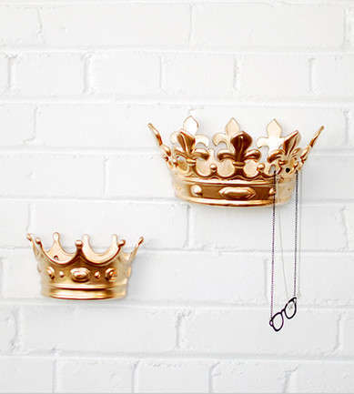 Monarch Wall Decor - These King Crown Wall Hooks from HOTTT.COM Add a Touch of Opulence to Your Home