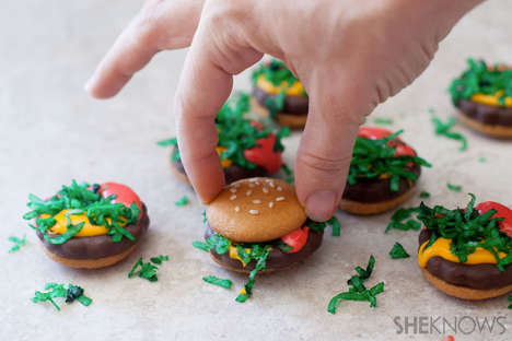 Decieving Hamburger Cookies - These Delicious No-Bake Cookies Look Like Fast-Food Items