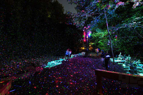 Enchanted Forest Installations - Moment Factory Presents the Foresta Lumina in Quebec