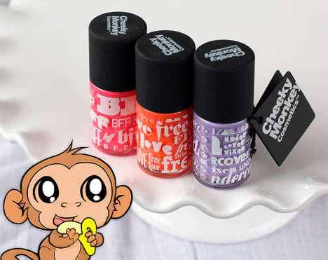 Formaldahyde-Free Nail Polishes - Cheeky Monkey Cosmetics Offers Luxe Eco-Friendly Varnishes