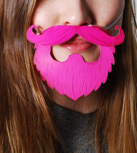 Faux Facial Hair Novelties - These Awesome Party Beards from HOTTT.COM Celebrate Fully Groomed Looks