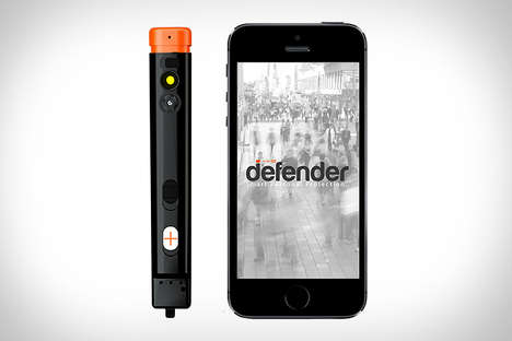 Protective Phone Devices - The Defender Hooks Up to Your Smartphone To Keep You Safe