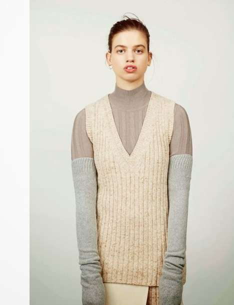 Experimental Fall Sweater Editorials - The Numero China Lily Photoshoot Features Knits