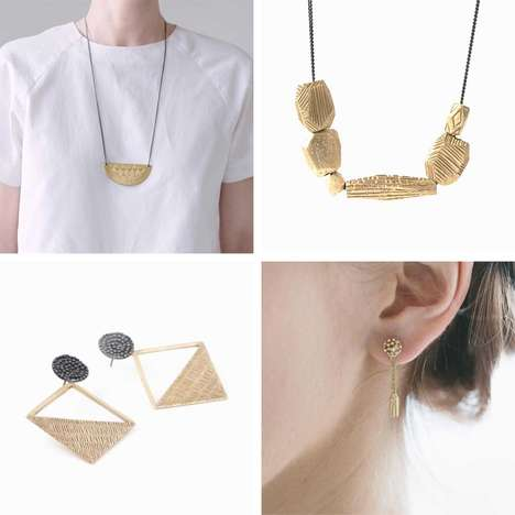 Atypical Texture-Ridden Adornments - The Abby Seymour Jewelry Collection is Modeled After Finishes