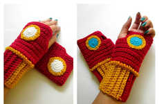 Superhero Wrist Warmers - These Knitted Gloves Are Inspired by Marvel Comics' Iron Man