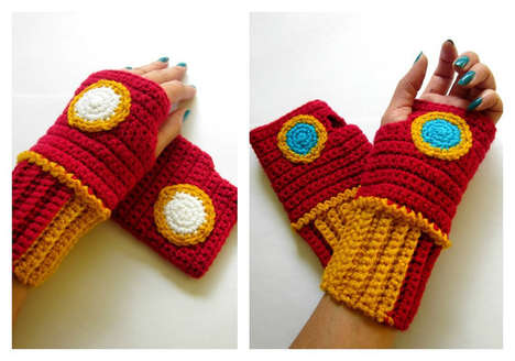 Superhero Wrist Warmers - These Knitted Gloves Are Inspired by Marvel Comics