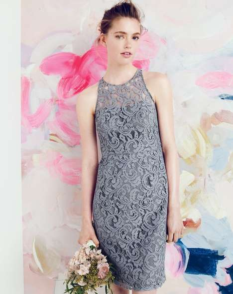 Artistic Bridal Lookbooks - The J.Crew Wedding Style Guide for August is Soft and Feminine