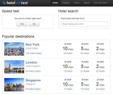 Internet Speed-Ranking Reviews - The Website Ranks the Hotel WiFi of Accommodations Around the World
