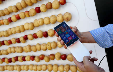 Vegetable Phone-Charging Walls - Microsoft's Phone Charging Wall is Powered by Potatoes and Apples
