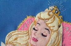 Embroidered Disney Purses - Olympia Le-Tan Creates Fairy Tale Clutches Every Girl Will Want