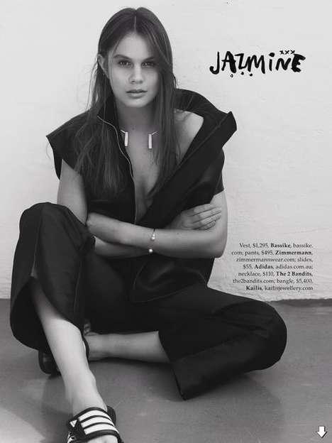 Posh Profiling Editorials - The Elle Australia August 2014 Casting Call Photoshoot Shows Interviews