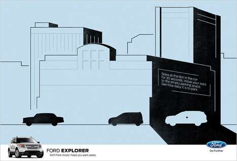 Illusory Vehicle Ads - This Ford Israel Print Ad is a Clever Optical Illusion