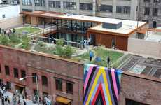 Rooftop Garden Headquarters - Kickstarter's New Eco-Friendly Office Features a Green Roof Element