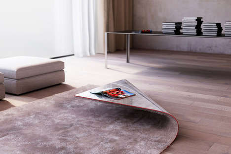 Folded Carpet Coffee Tables - Alessandro Isola Creates a Practical Table