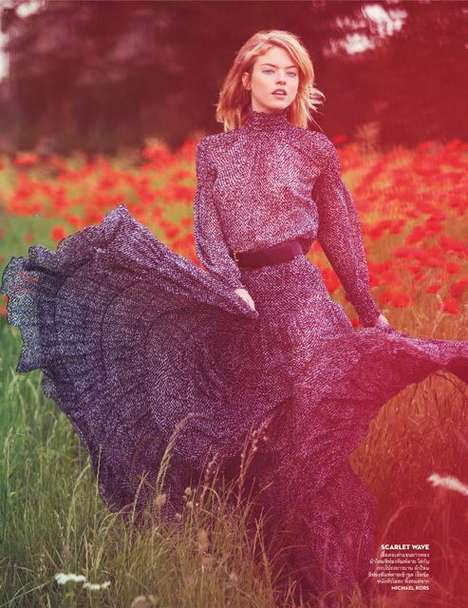 Opulent Outback Editorials - The Vogue Thailand Outdoor Whisperer Photoshoot Features Wildlife