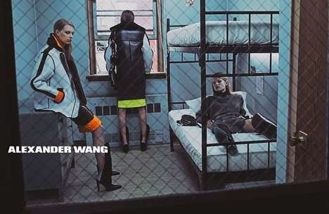 Insane Asylum Fashion Campaigns - The Alexander Wang Fall/Winter 2014/2014 Ads Feature Prison Cells