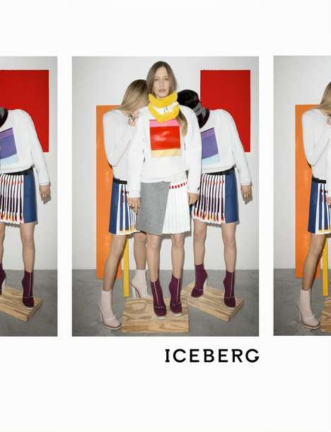 Deliberately Spliced Fashion Campaigns - The Iceberg Fall/Winter 2014/2015 Advertisements Are Split