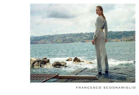 Solitary Seafarer Style Campaigns - The Francesco Scognamiglio Fall/Winter 2014/2015 Ads Are Watery