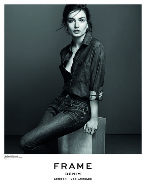 Couture Canadian Tuxedo Editorials - The Frame Denim Fall/Winter 2014/2015 Ads Feature Jean on Jean