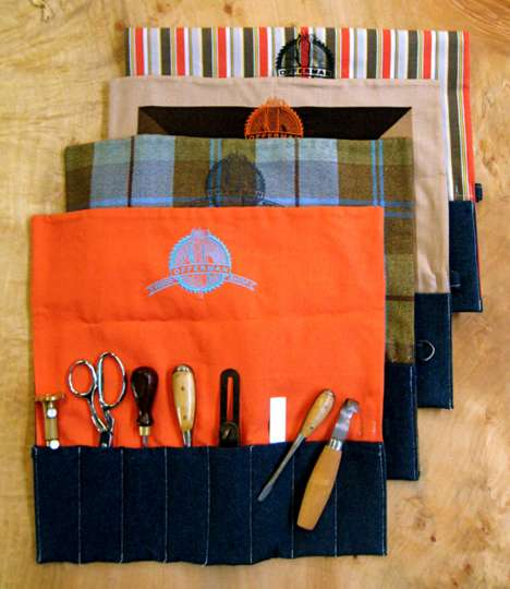 Stylish Tool Storage - This Tool Roll from Offerman Wood Shop Keeps Work Spaces Organized