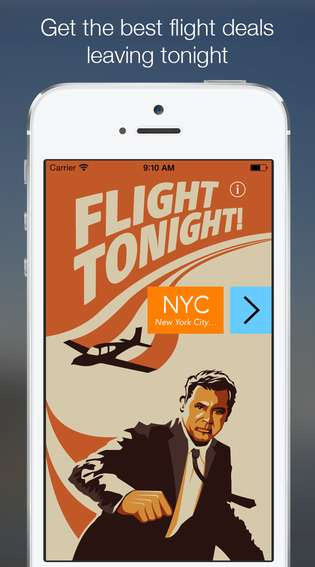 Impulsive Flight-Booking Apps - The Flight Tonight App Makes it Easy to Book a Last-Minute Flight