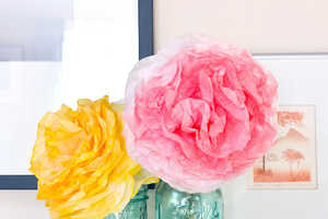 These DIY Paper Flowers are Made from Dyed Filters