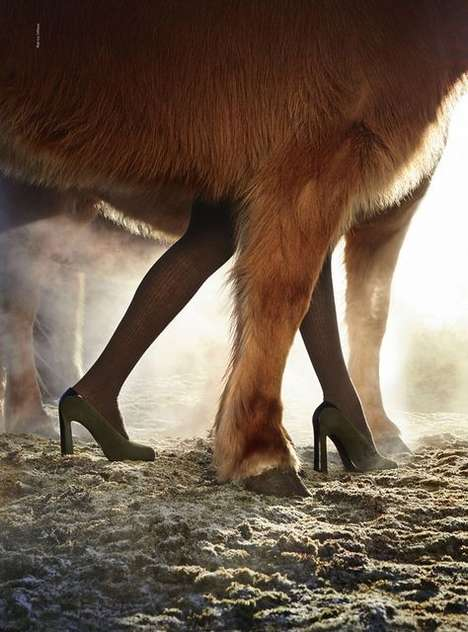 Eccentric Equestrian Fashion Campaigns - The Hermes Fall/Winter 2014/2015 Ads Showcase Horses