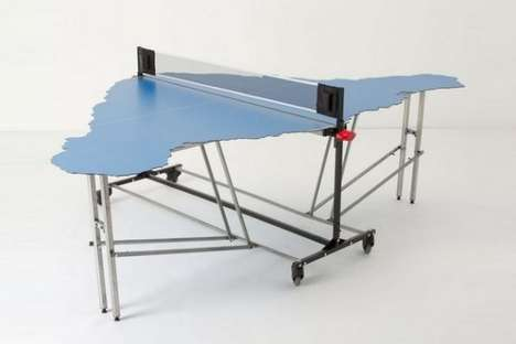 Atypical Table Tennis Designs - The Easter Island Ping Pong Table Cyprien Chabert is Complex