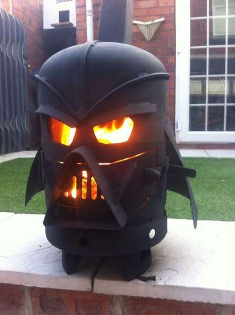 Villainous Wood Stoves - This Darth Vader Design Stove is Great for Backyard Bonfires
