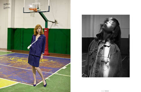 Elegant Gym Rat Editorials - The Ones 2 Watch Skipping Gym Exclusive Embraces Nostalgic Styling