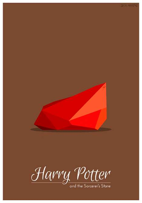 Minimalist Animated Movie Posters - Harry Potter Gets a Modern Makeover from Jessica Martinez