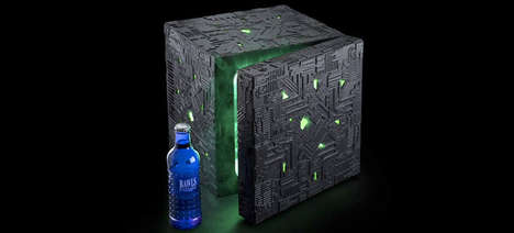 Galactic Cube Fridges - This Tiny Fridge is Designed to Look like the Borg Cube from Star Trek