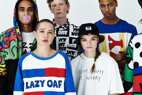 Grungy Streetwear Lookbooks - The Latest Collection by Lazy Oaf Pays Tribute to the 90s