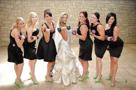 Fitness-Themed Wedding - Derrick and Brittany's Muscle Marriage Signifies Commitment to the Gym