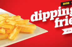 Ketchup-Scooping Fries - KFC Romania's Dipping French Fries Are Trough-Like For Holding More Sauce