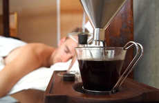 Beverage Brewing Clocks - The Barisieur Alarm Clock Design Makes a Cup of Coffee to Wake You Up