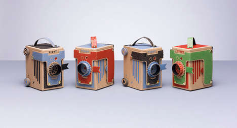DIY Pinhole Cameras - The Viddy Camera is Made of Cardboard and Reclaimed Materials