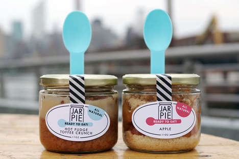 Mason Jar Pies - Jam Jar Bakery Offers Customers an Easy Way to Enjoy a Messy Baked Good