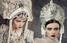 Victorian Opulence Editorials - Glassbook Magazine's Trapped Fashion Story is Visually Striking
